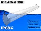 LED 선형 램프 IP69 5FT 60W LED 세 배 증거 빛 LED 세 배 증거 옥외를 위한 방수 방진 Corrosion-Proof 관 정착물 40W IP69K LED 세 배 증거 빛