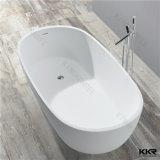 1700 Diseño ovalado de pie una superficie sólida bañera de piedra
