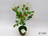 Plástico/Artificial/flores de seda Rose & Hierba Bush (XF-S007)