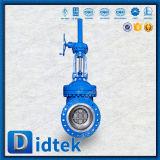 Válvula de puerta del engranaje Wc9 de la válvula de derivación del Bw de Didtek