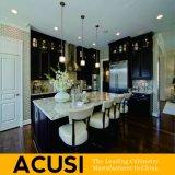 De in het groot Amerikaanse Keukenkasten van de Stijl van het Eiland Stevige Houten (ACS2-W15)