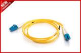 Fibra LC ottico di colore giallo 3.0mm al cavo monomodale della zona di LC Zipcord