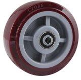 Roulette fixe Heavy Duty PU (rouge)
