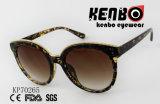 Occhiali da sole dell'occhio di gatto di modo con il sopracciglio dorato Kp70265 della catena del metallo