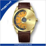 Conception automatique de numérotation spéciale montre-bracelet Bracelet en cuir souple