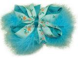 Drucken-Blumegrosgrain-Haar-Klipp-Haar-Bogen