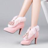 Caricamenti del sistema dell'alto tallone della caviglia del collare di modo della pelle scamosciata del Faux del pattino delle donne