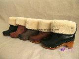 女性のための方法雪の羊皮の足首のブート