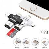 tipo leitor do USB do Ios 4in1 micro de cartão de C OTG micro SD TF para a memória Flash Android 16GB do USB do telefone móvel do SE 6s do iPhone 7