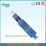 저손실 0.2dB를 위한 플라스틱 파란 집을%s 가진 LC 광섬유 접합기