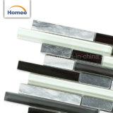 Mattonelle di mosaico di vetro di pietra grige della miscela di Backsplash della cucina della fabbrica di alta qualità