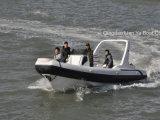 Liya 7.5m Boot van de Rib van de Vissersboot van de Vissersboot van de Rib van de Glasvezel de Opblaasbare