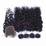 Ondas naturais brasileiras 100% de cabelo humano prorrogação não Remy Hair