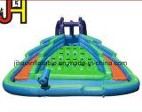 水公園装置の上昇の膨脹可能な二重車線水スライド