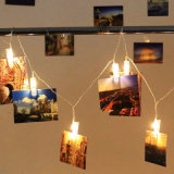 Luzes do grampo da foto do cartão da corda do diodo emissor de luz da novidade