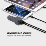 Qualitäts-Kohlenstoff-Schwarzweiss-Quadrate verdoppeln USB-Kanal-Auto-Aufladeeinheit