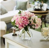 Il Hydrangea artificiale all'ingrosso di Gergeous di fabbricazione in serie fiorisce il Hydrangea di seta