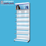 Good Quality Floor Cosmetic Rack Metal Makeup Display Stand with Light