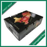 과일 상단과 바닥 작풍을%s 가진 물결 모양 수송용 포장 상자