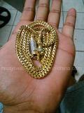 Encadenamiento plateado oro personalizado americano de Franco del acero inoxidable de la manera