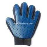 Het Verzorgen van het huisdier de Handschoen van de Kam van de Massage van de Was van de Hond van de juist-linker-Hand van het Silicone