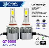 2PCS H4 LED H7 H11 9005 9006 viga alta-baja auto toda de la linterna 72W 7600lm del coche de la viruta C6 de la MAZORCA Hb4 en una lámpara 6500K 12V de los automóviles