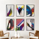 벽 장식을%s 목제 프레임을%s 가진 현대 추상 예술 색칠