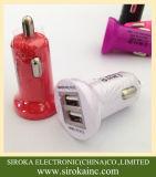 工場セリウムRoHSとの卸し売りユニバーサル倍USB車の充電器5V 2.1A+1Aはスマートな電話のために承認した