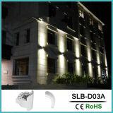 12W caixa branca de parede LED de iluminação exterior