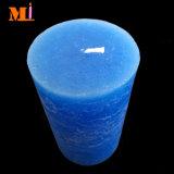Perfeccionar en grande adicional del modelo de la mano de obra de la vela barata de mármol azul brillante del pilar