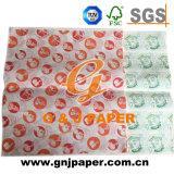 Impreso de alta resistencia 17-23g/m² papel translúcido para empaquetado de alimentos