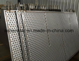 Lamiera impressa efficiente della fossetta della lamiera di scambio termico di disegno della saldatura del laser
