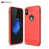 iPhone x 케이스를 위한 탄소 섬유 셀룰라 전화 덮개 연약한 TPU 케이스