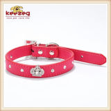 Dog 또는 Cats (KC0122)를 위한 Crown를 가진 신식 Quality Pet Leather Collars