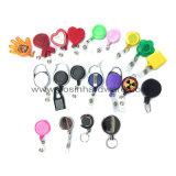 Metallabzeichen-Bandspule mit Schlüsselring-Verschluss-Haken