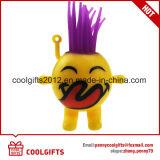 毛を搭載するおかしい点滅TPRゴム製Emojiのゴムボール