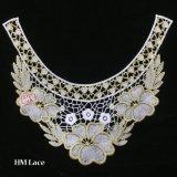 le lacet de 33*29cm a brodé des vêtements de garniture de collier de collet d'encolure de Venise cousant la connexion Hme930 d'Applique