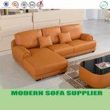 現代ホーム家具の居間セットのオレンジ革ソファー