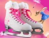 Chaussures de patin de glace de qualité pour des gosses