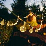 Ampoule Blanc chaud G40 fil de cuivre de chaîne de LED de lumière pour la décoration extérieure