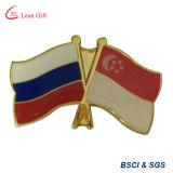 Pinos impressos do Lapel da bandeira da novidade da amizade do país (LM10054)
