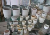 Creuset Al2O3 en céramique personnalisé pour la fonte d'industrie
