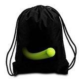 Le tennis fait sur commande d'usine noire de Xiamen folâtre le sac de cordon