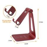 Stand universel de téléphone cellulaire de tablette en métal de support de téléphone d'Ajustable de B de vente en gros d'usine