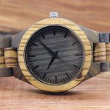 El lujo Natural artesanal de madera Mens Watch 2017