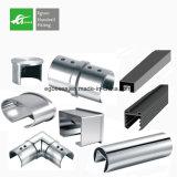 Fábrica Inox de China 304 316 tubos de la ranura del acero inoxidable para el pasamano de cristal de Frameless