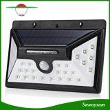 Nuovo indicatore luminoso solare grandangolare della parete del sensore di movimento del sensore 550lm 30 LED