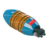 Hydraulische Rohrleitung-interne Anordnung-Schelle mit kupferner Zwischenlage: Anwendung für Krümmer-Rohr