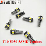 Автоматические света шариков T10 5050 5SMD Canbus Canbus