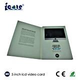 """Zoll 5.0 """" LCD-videogruß-Karten-Einladungs-Musik-Geschenk-Karte"""